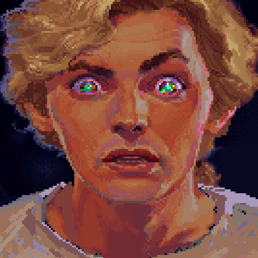 Guybrush Threepwood looking pretty fucking intense in a Monkey Island cutscene.
