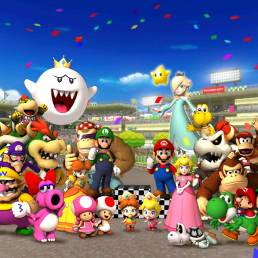 Mario Kart Wii's congratulations screen.