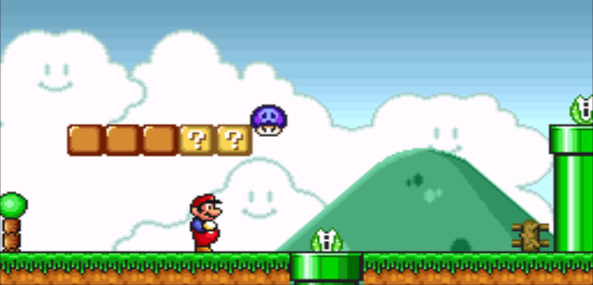 The poison mushroom in Super Mario All-Stars.