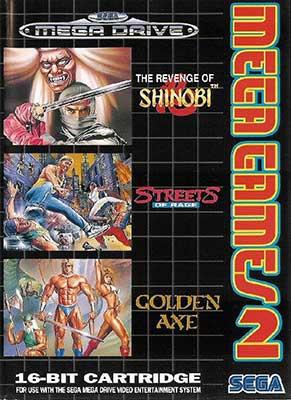 The cover art of Mega Games 2, featuring Golden Axe.