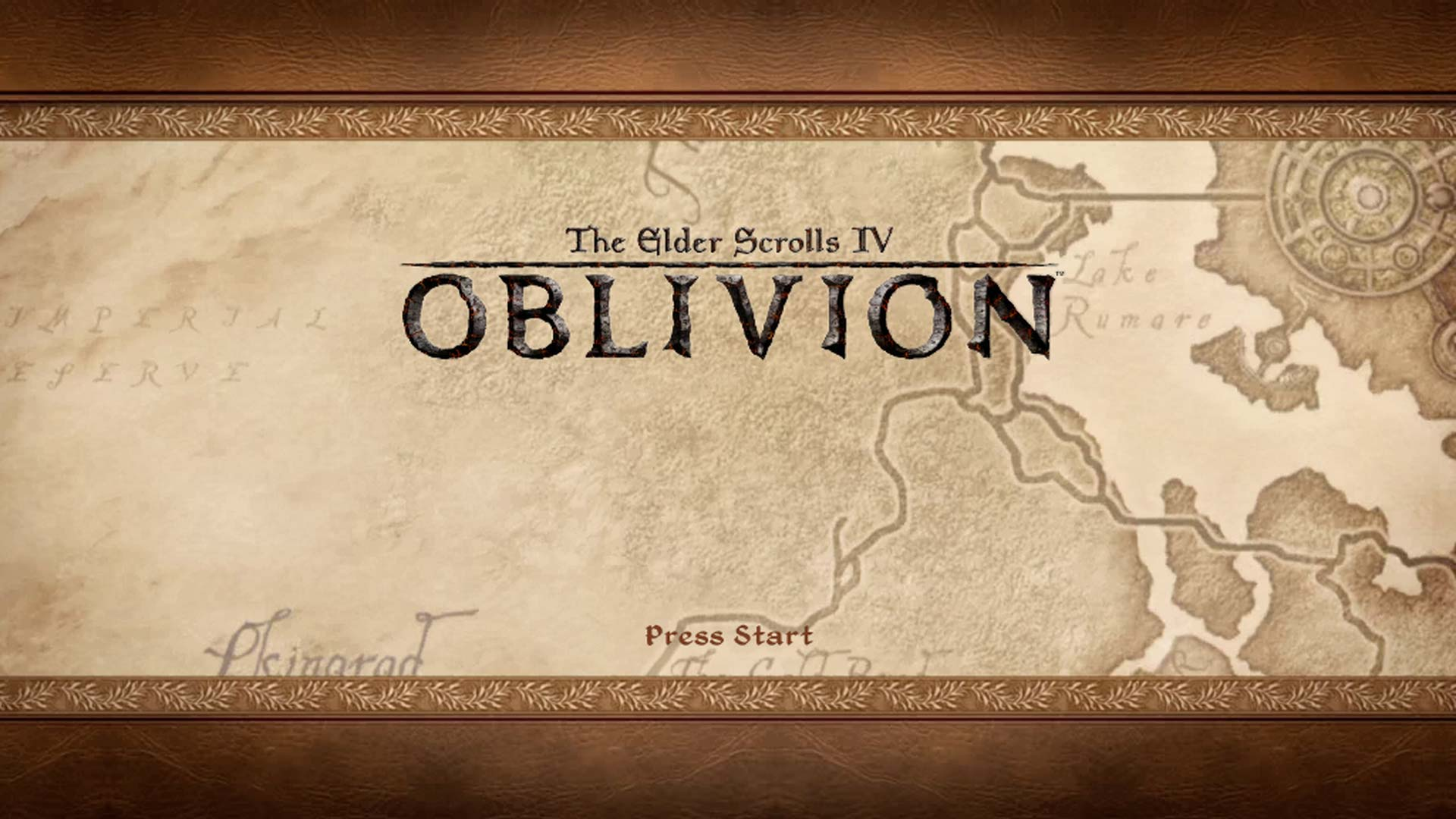 The title screen from Oblivion.