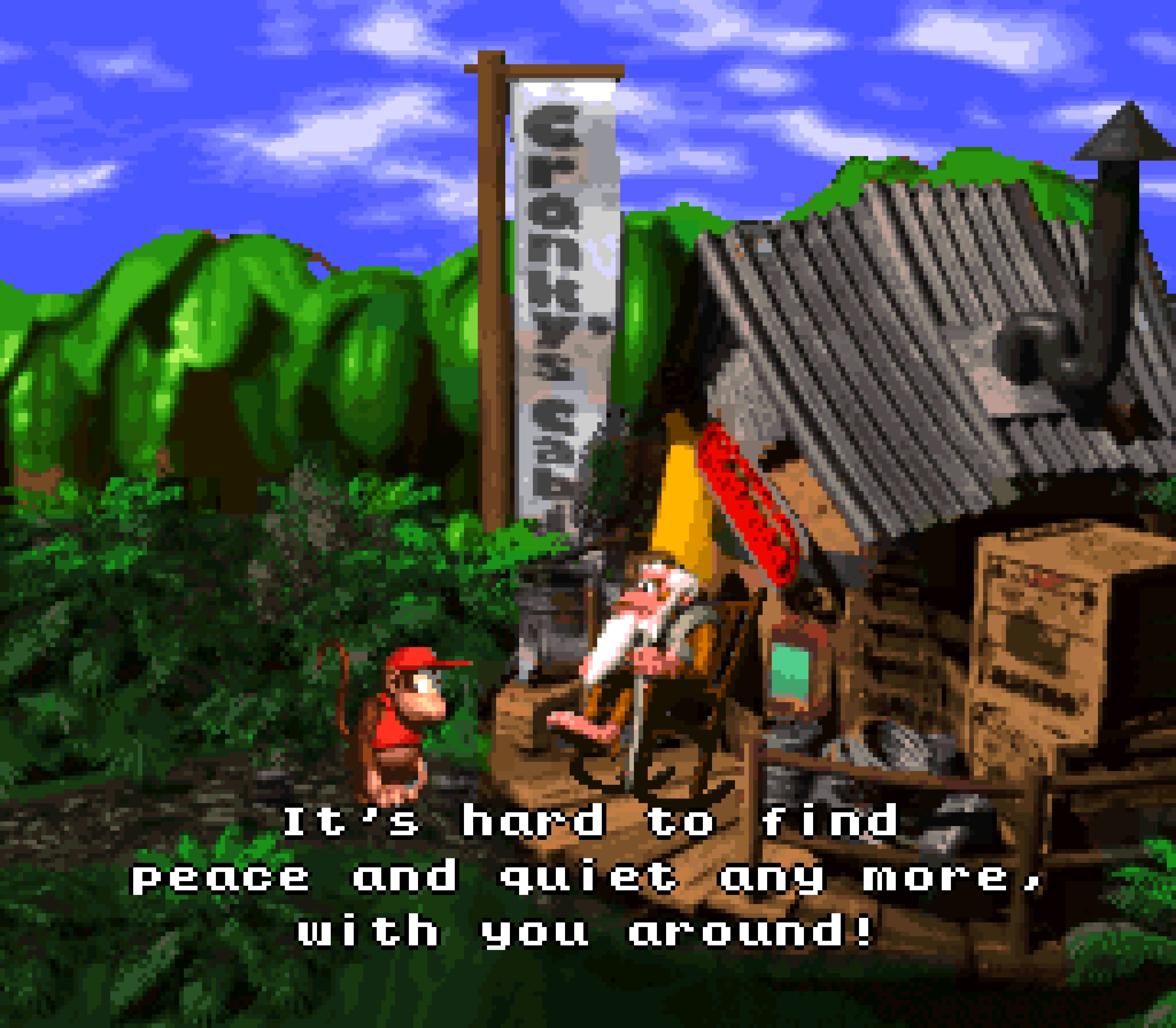 Cranky's Cabin in Donkey Kong Country.