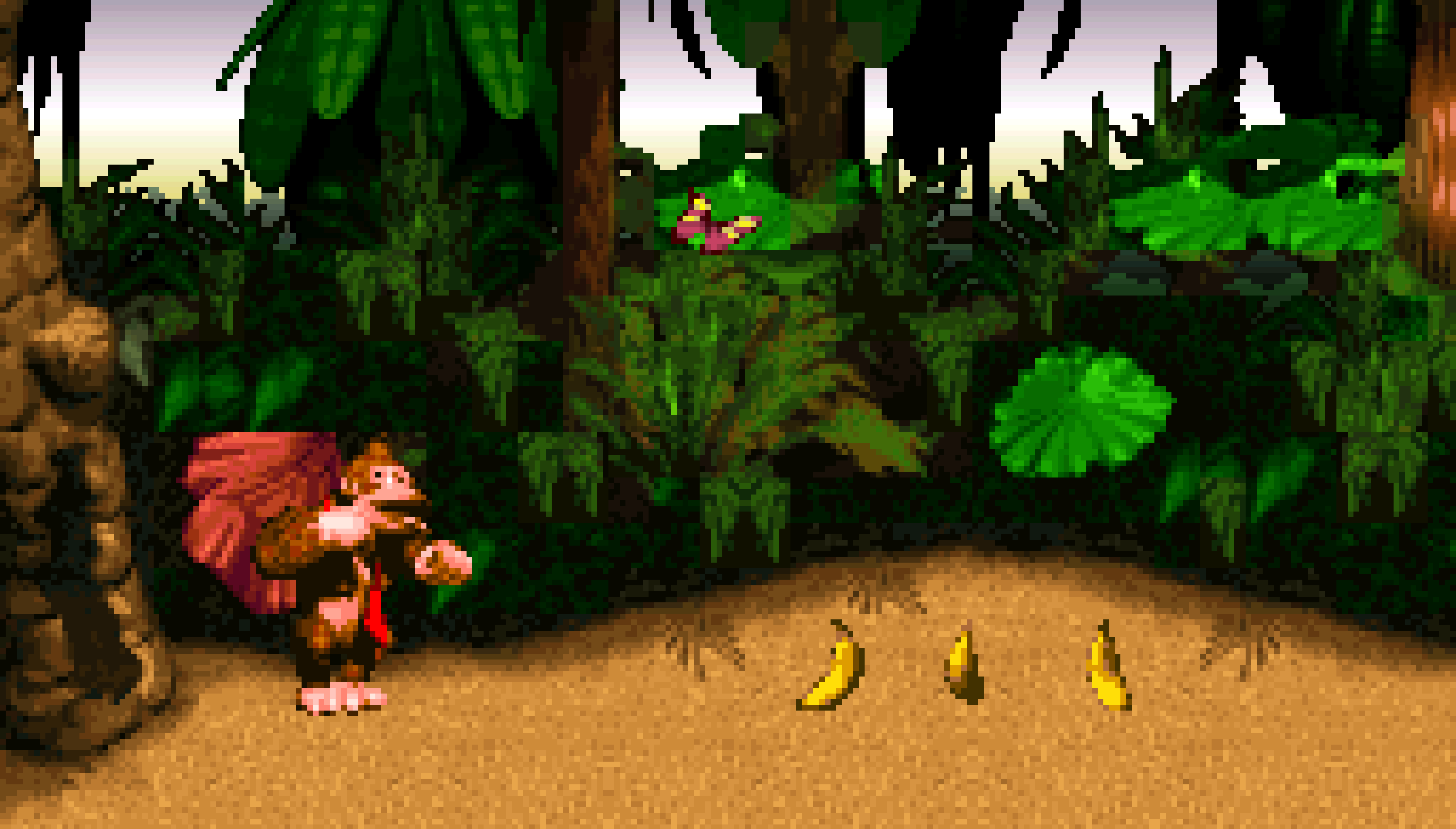 Jungle Hijinxs, the first level in Donkey Kong Country.
