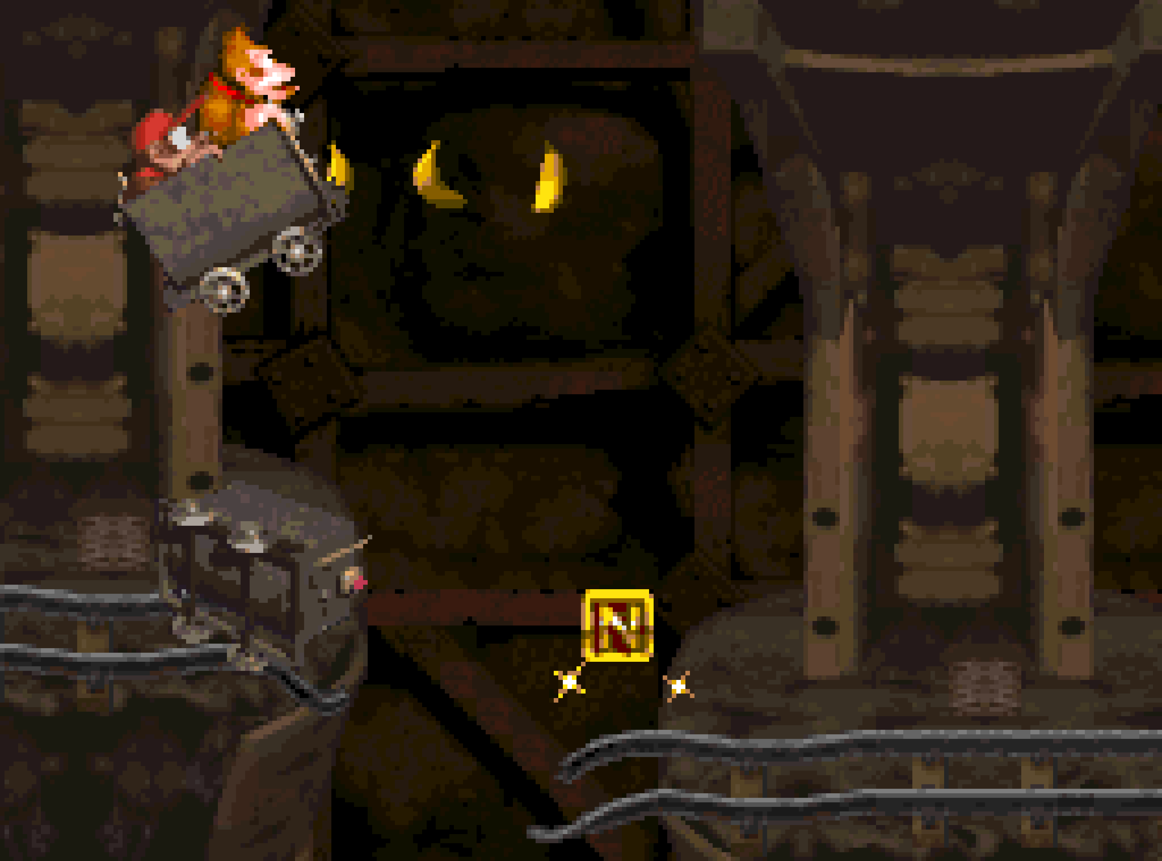 Mine Cart Madness, from World 2 of Donkey Kong Country.