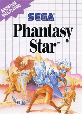 Phantasy Star cover art, which featured the song Tower Theme.