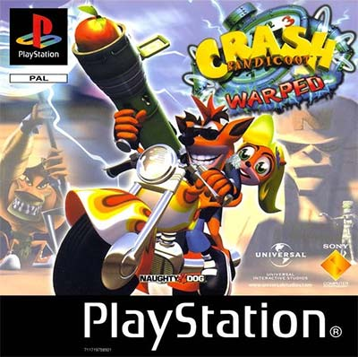 The cover art for Crash Bandicoot: Warped.