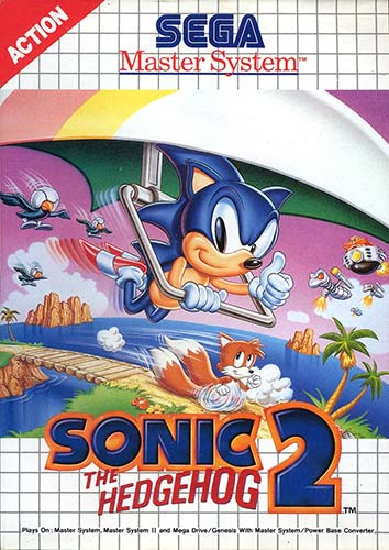 Sonic the Hedgehog 2 (Master System) box art.