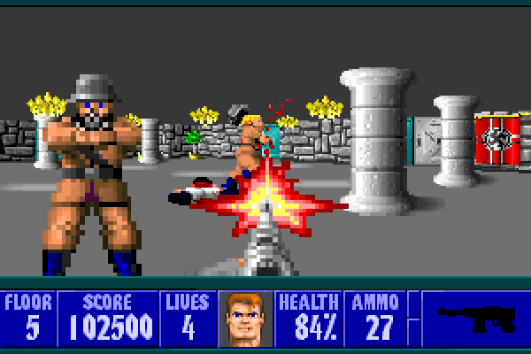 Wolfenstein 3D - In-game shot 1 (large)