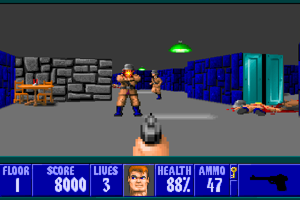Wolfenstein 3D - In-game shot (large)
