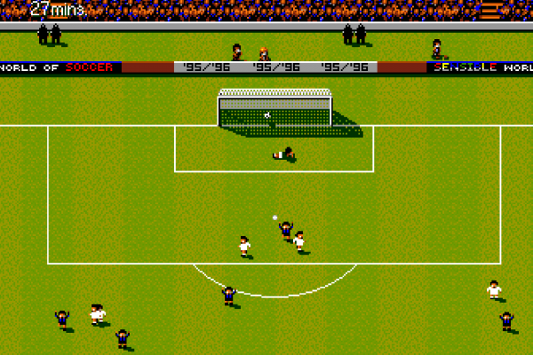 Sensible World of Soccer (European Championship Edition) - In-game - AC Milan vs Inter Milan goal