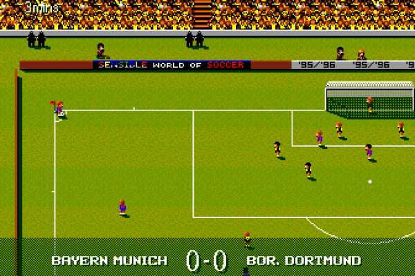 Sensible World of Soccer (European Championship Edition) - In-game - Bayern vs Dortmund 1