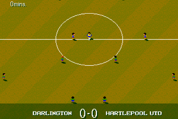 Sensible World of Soccer (European Championship Edition) - In-game - Hartlepool vs Darlington kick-off
