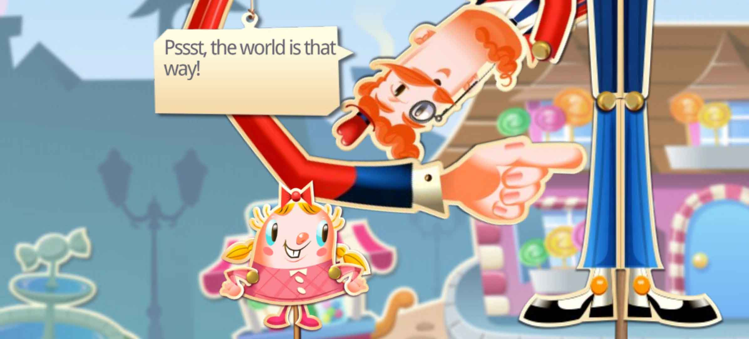 In-game shot of Candy Crush Saga, on Android and iPhone.