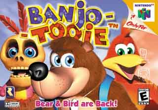 N64 cover art for Banjo-Tooie, sequel to Banjo-Kazooie