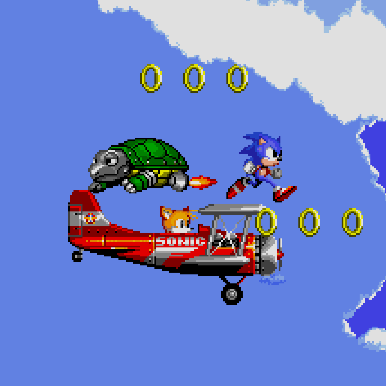 Sonic 2's Sky Chase Zone
