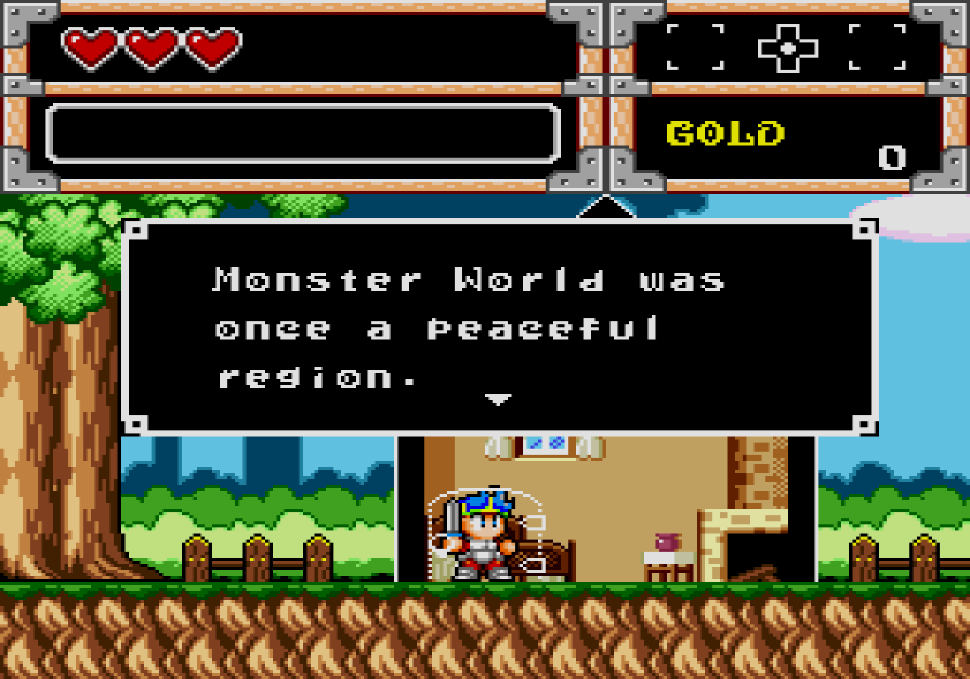 Wonder Boy in Monster World peaceful region