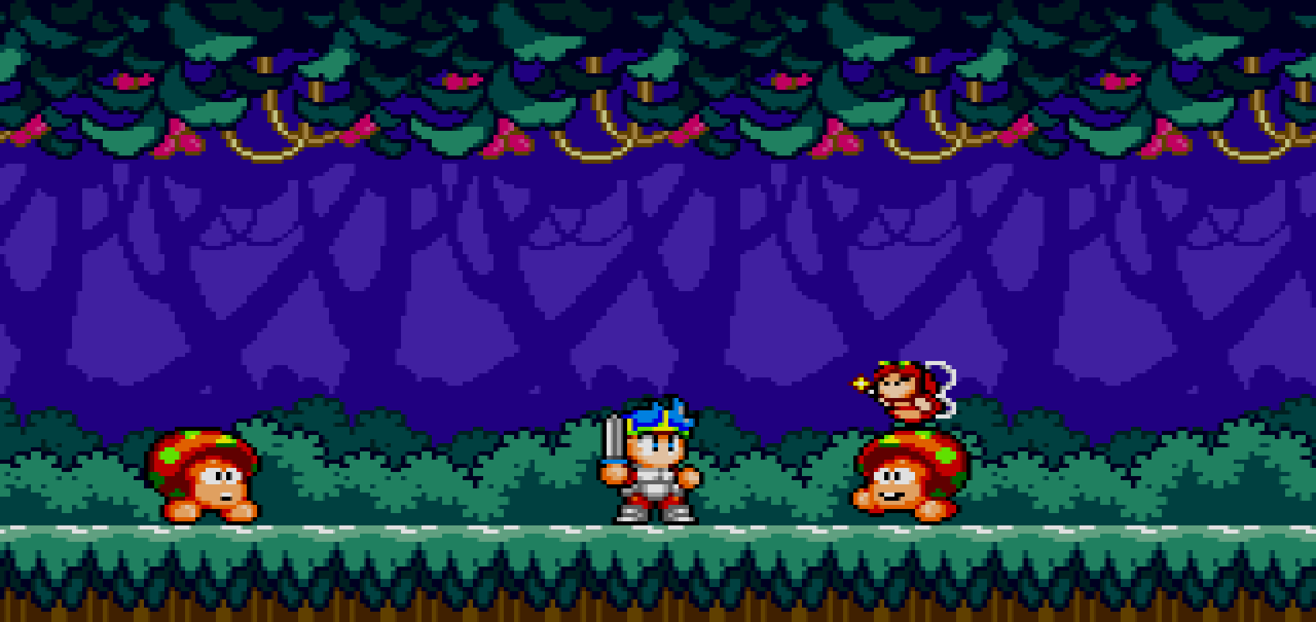 Wonder Boy in Monster World mushroom banner