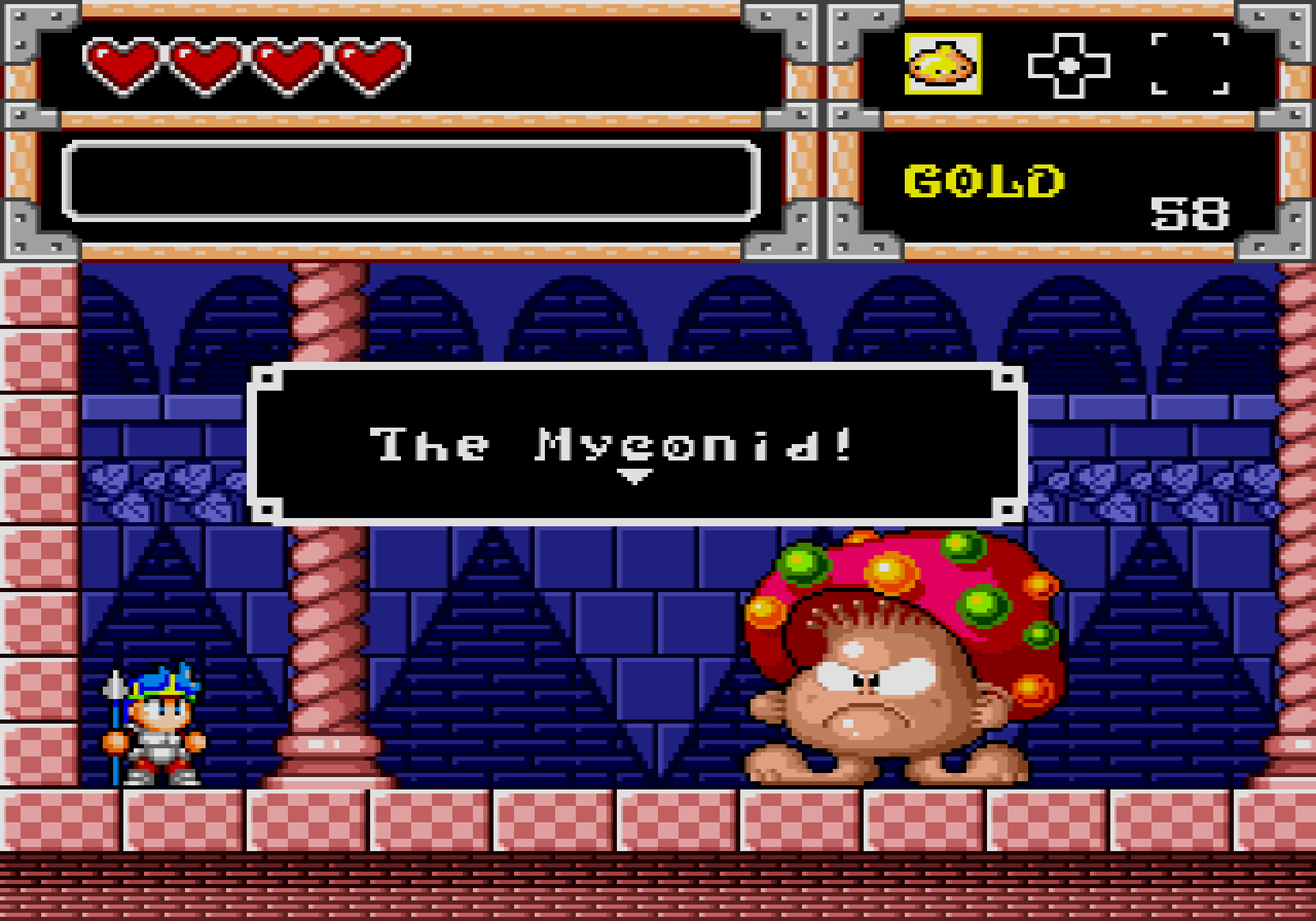Wonder Boy in Monster World Myconid mushroom