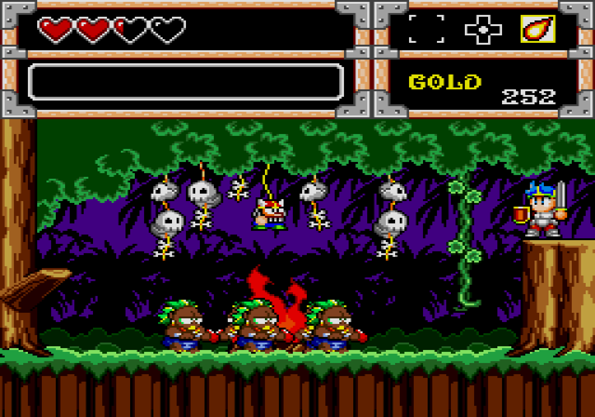 Wonder Boy in Monster World probably a bit racist this screenshot isn't it?