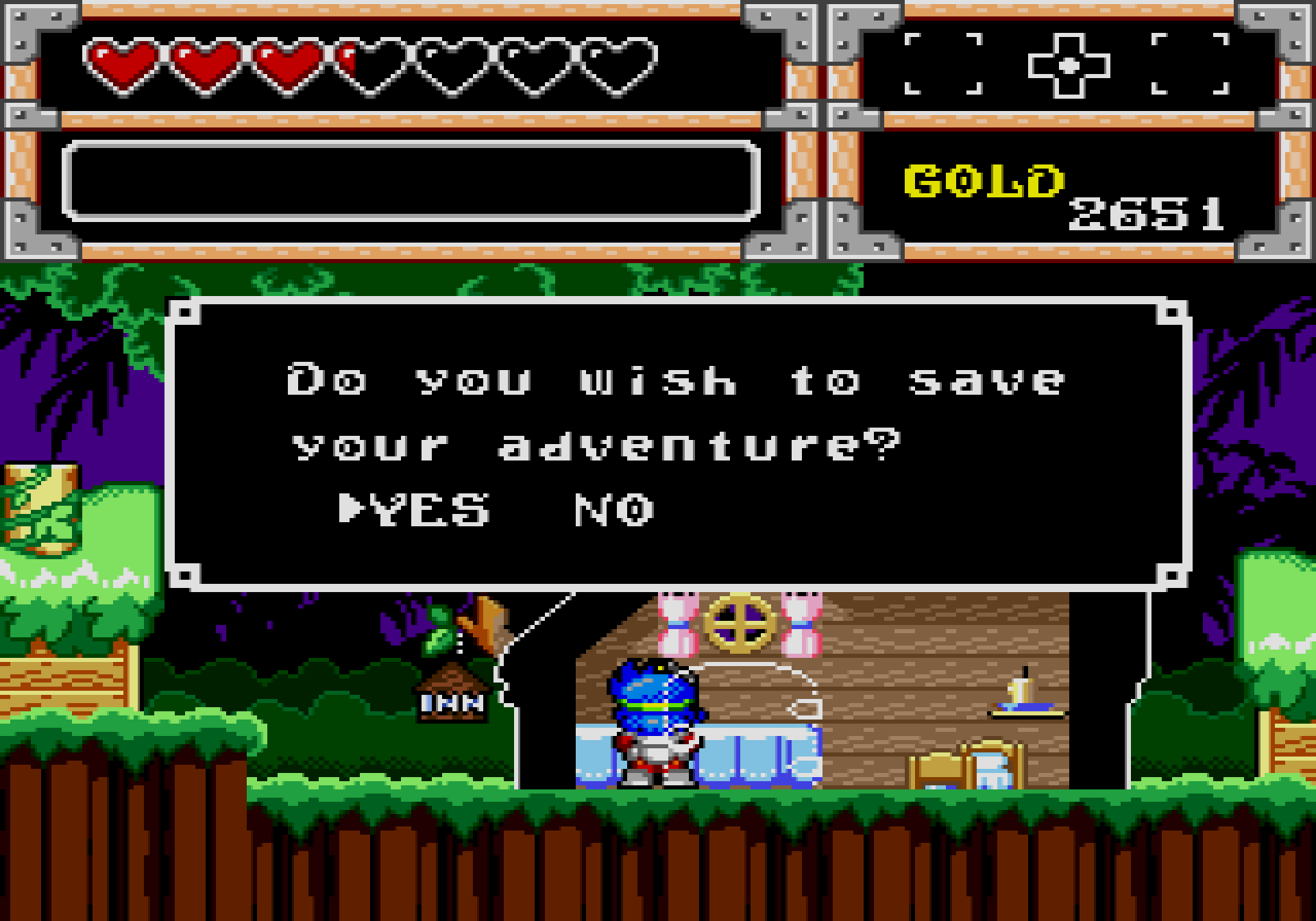Wonder Boy in Monster World save screen