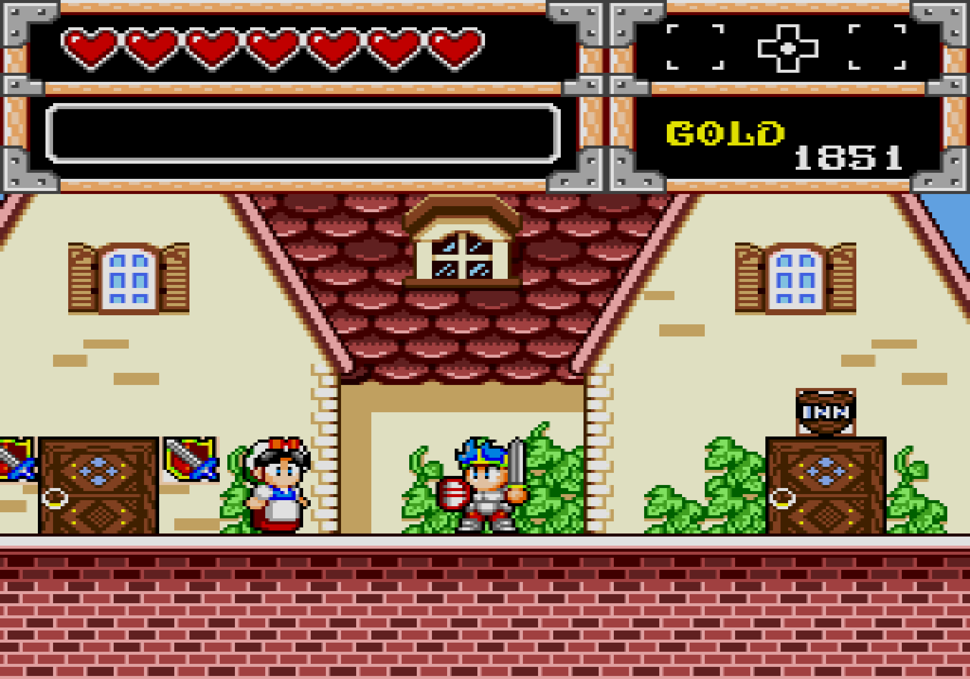 Wonder Boy in Monster World village