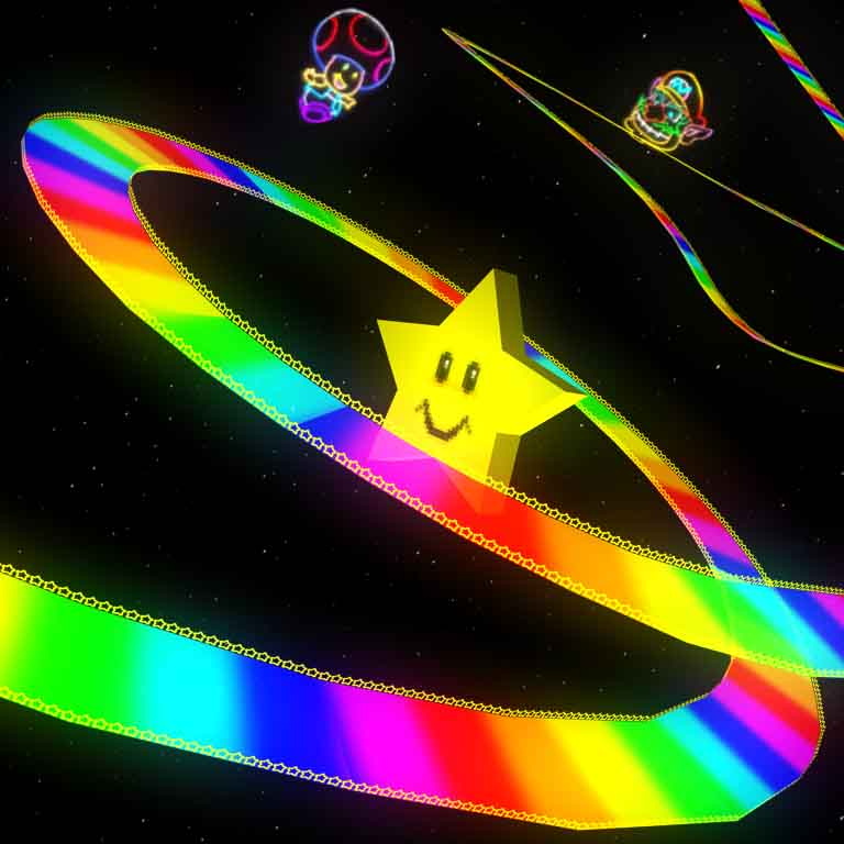 Rainbow Road on the N64.