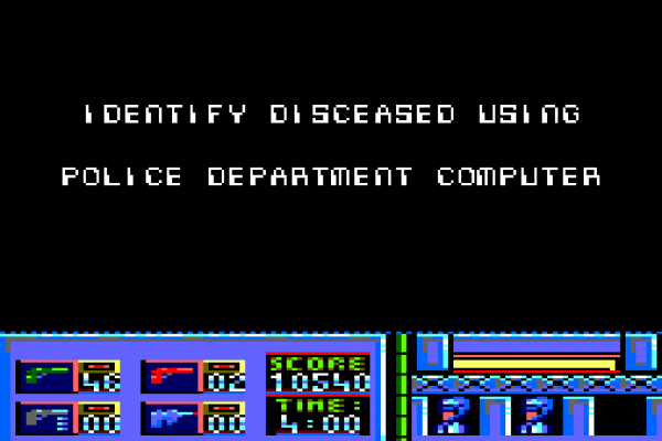 RoboCop (1987) - Amstrad CPC - Identifying the 'disceased' request