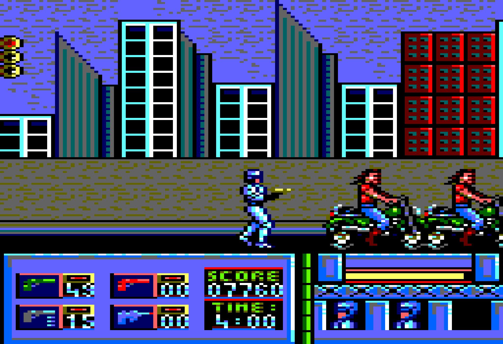 Bikers in RoboCop (1987).