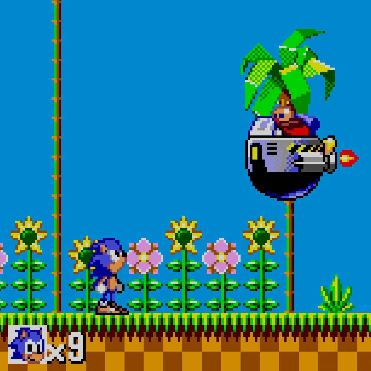 Sonic vs Robotnik on the Master System.