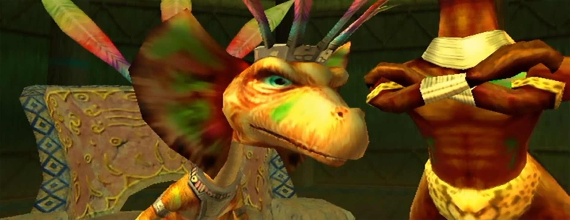 Chief LightFoot of LightFoot Village in Star Fox Adventures on the GameCube.