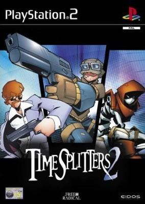 The box art of TimeSplitters 2