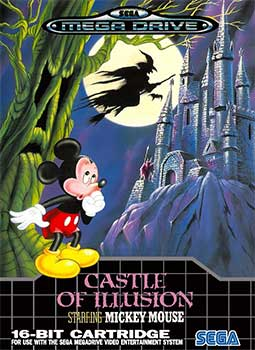 Castle of Illusion cover, featuring the Toyland level.