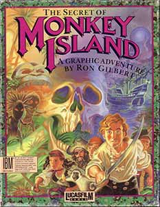 The title art to Monkey Island on DOS/Amiga.