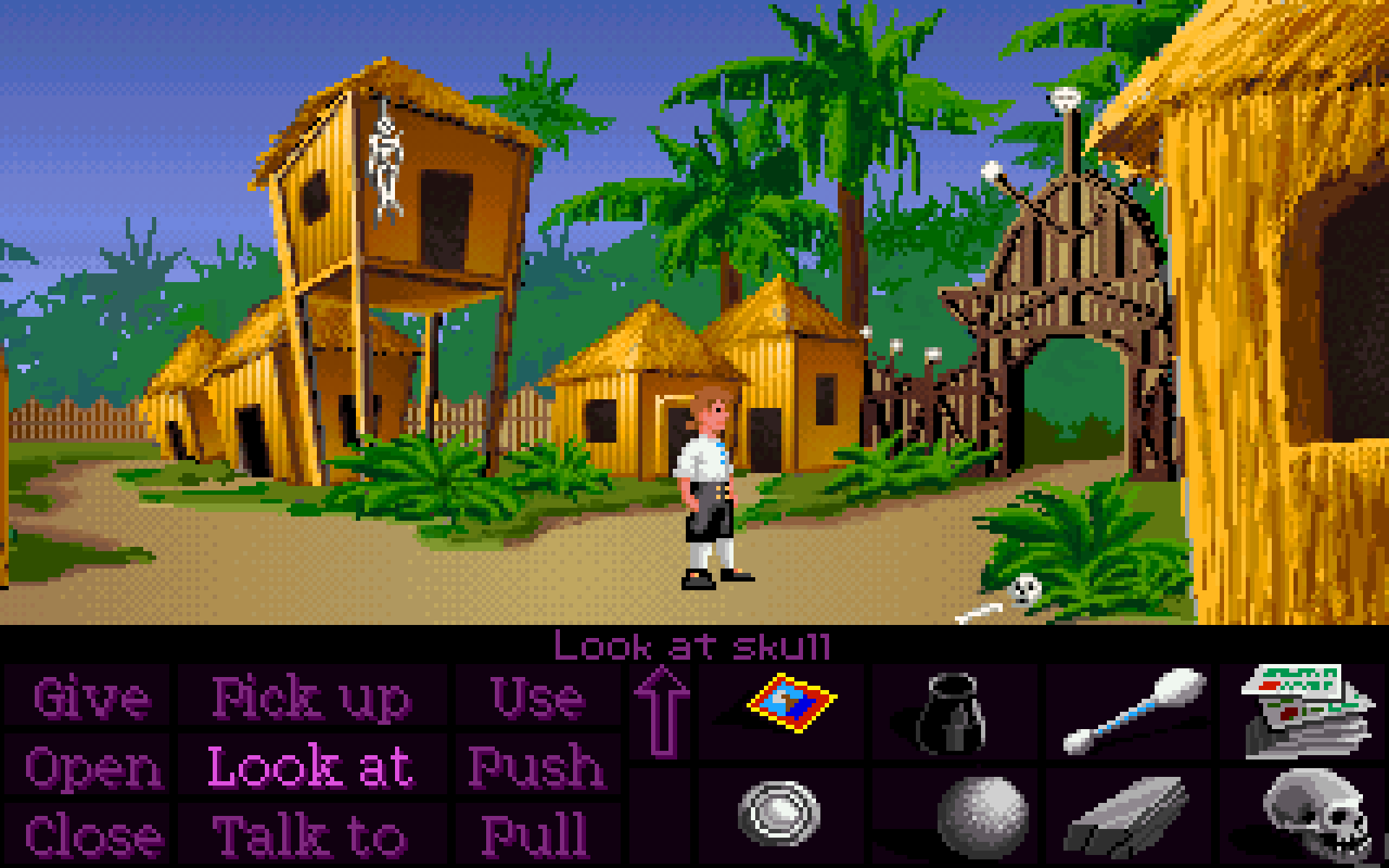 SCUMM-based screenshot from Moby Games of Monkey Island's in-game funsies.