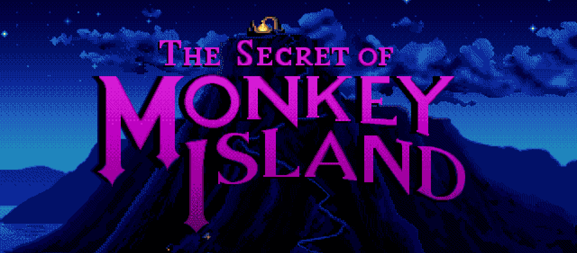 The title image from Monkey Island, courtesy of a screenshot from Moby Games.