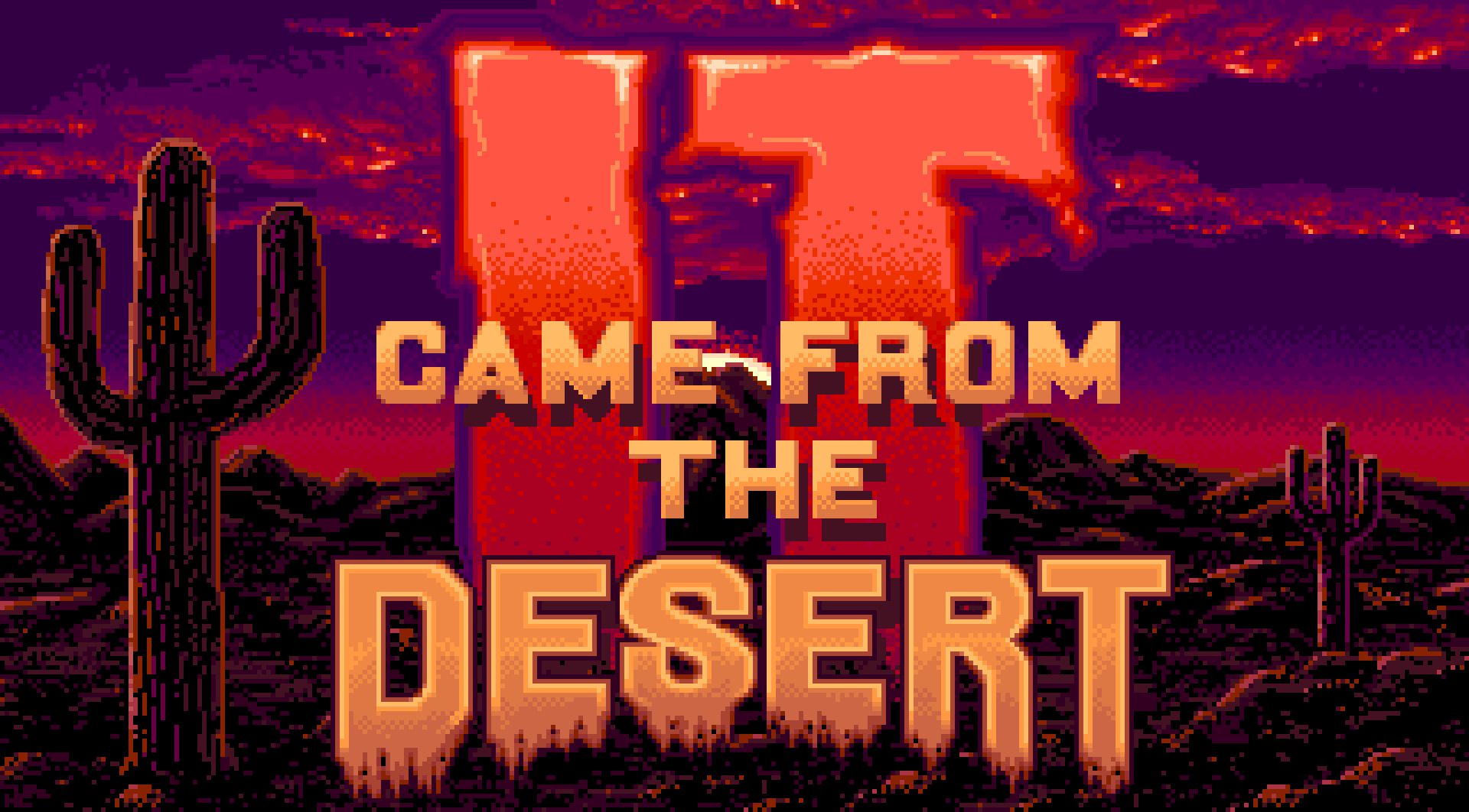The title screen of It Came from the Desert.