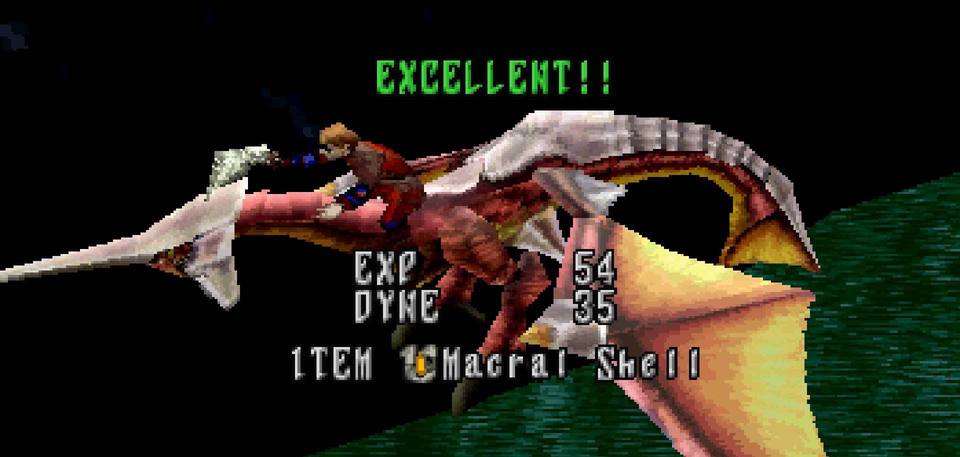 Excellent status in Panzer Dragoon Saga.