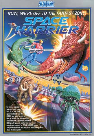 The poster advertising Space Harrier.