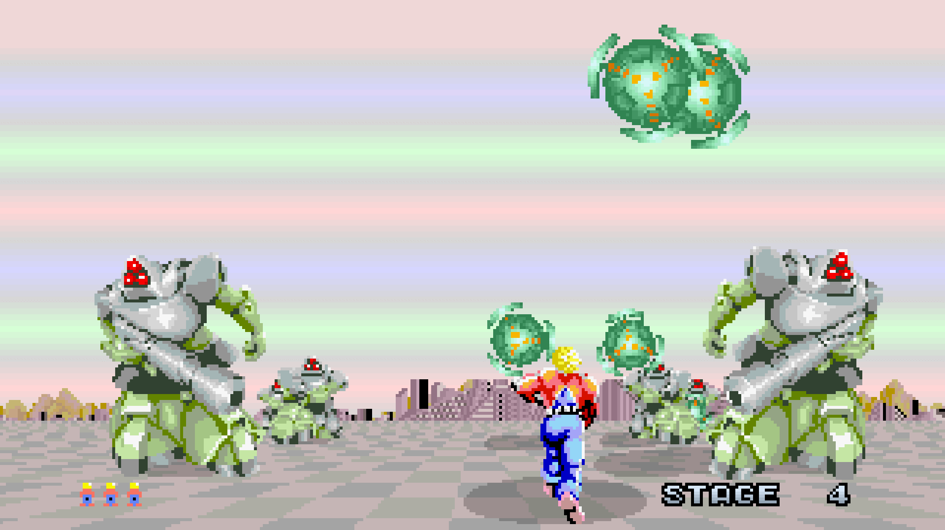 Space Harrier's fourth stage: CEICIEL.