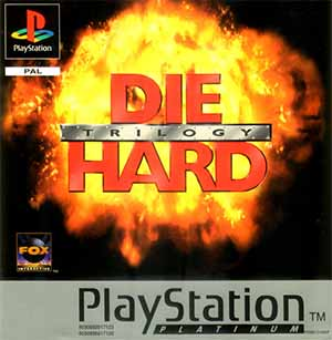 The PAL cover art of Die Hard Trilogy.