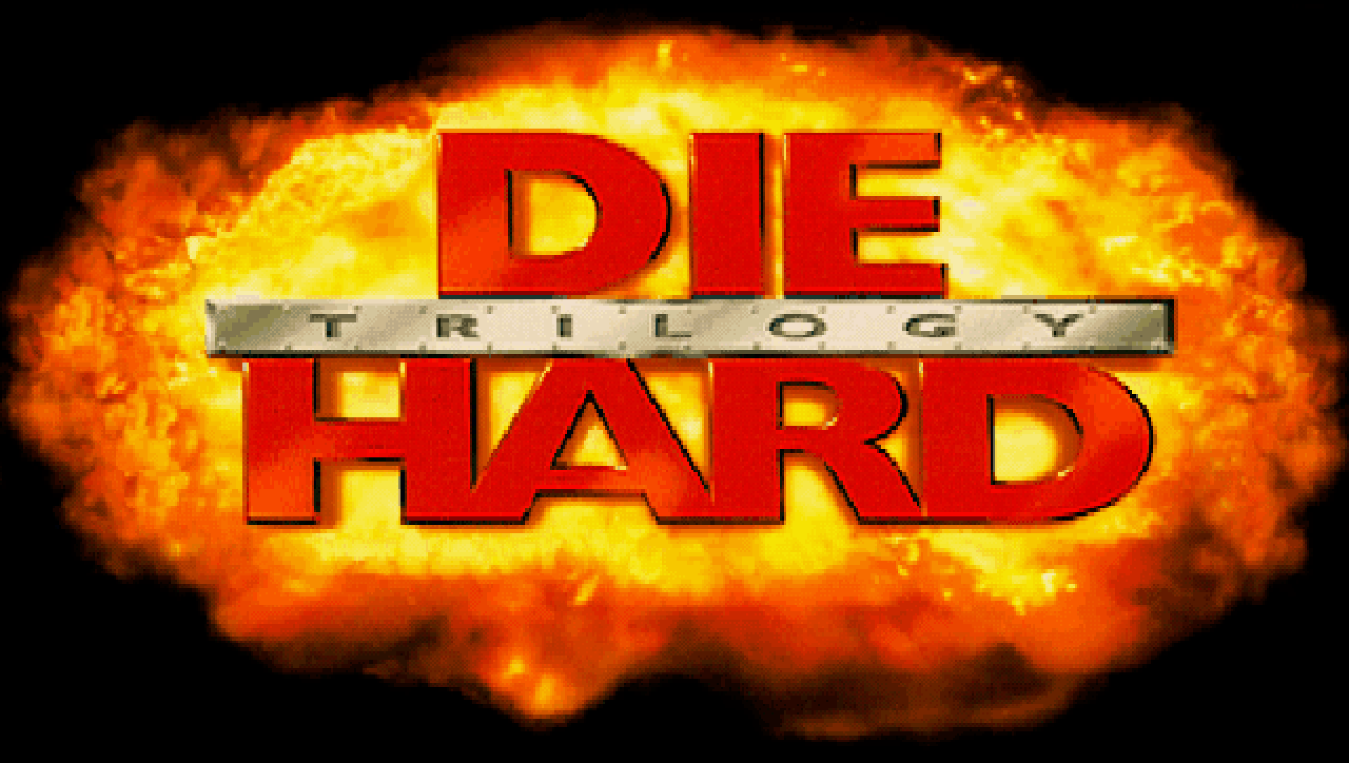 Die Hard Trilogy's intertitle, in all its stretched glory.