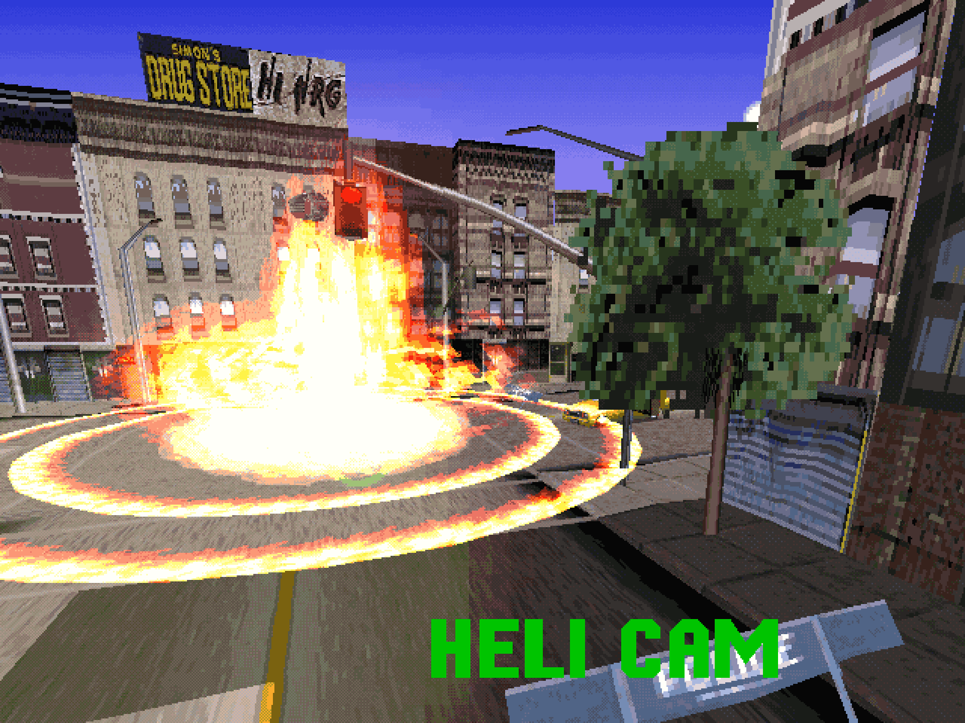 A bomb detonation in New York City in Die Hard Trilogy.