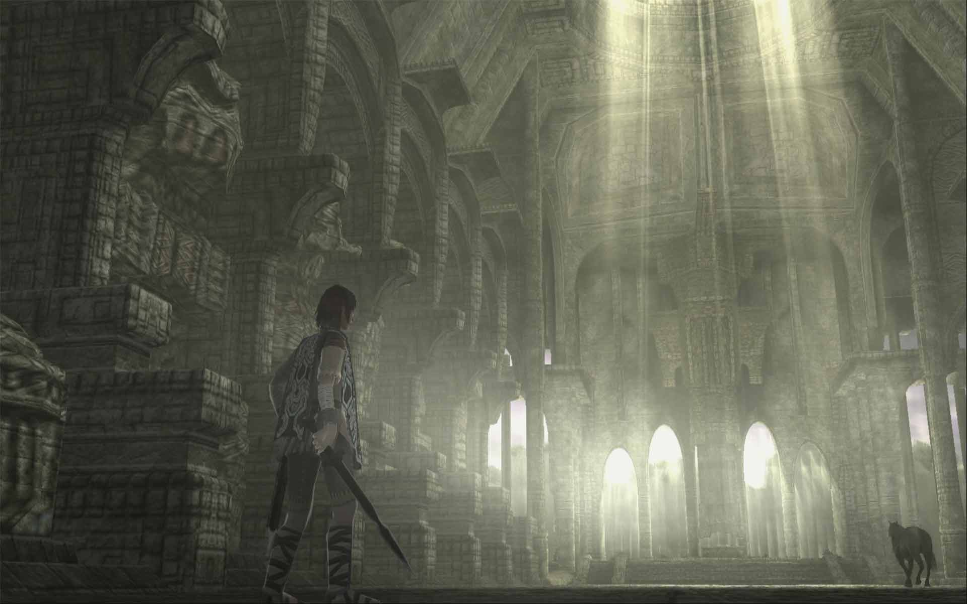 The main shrine in Shadow of the Colossus.