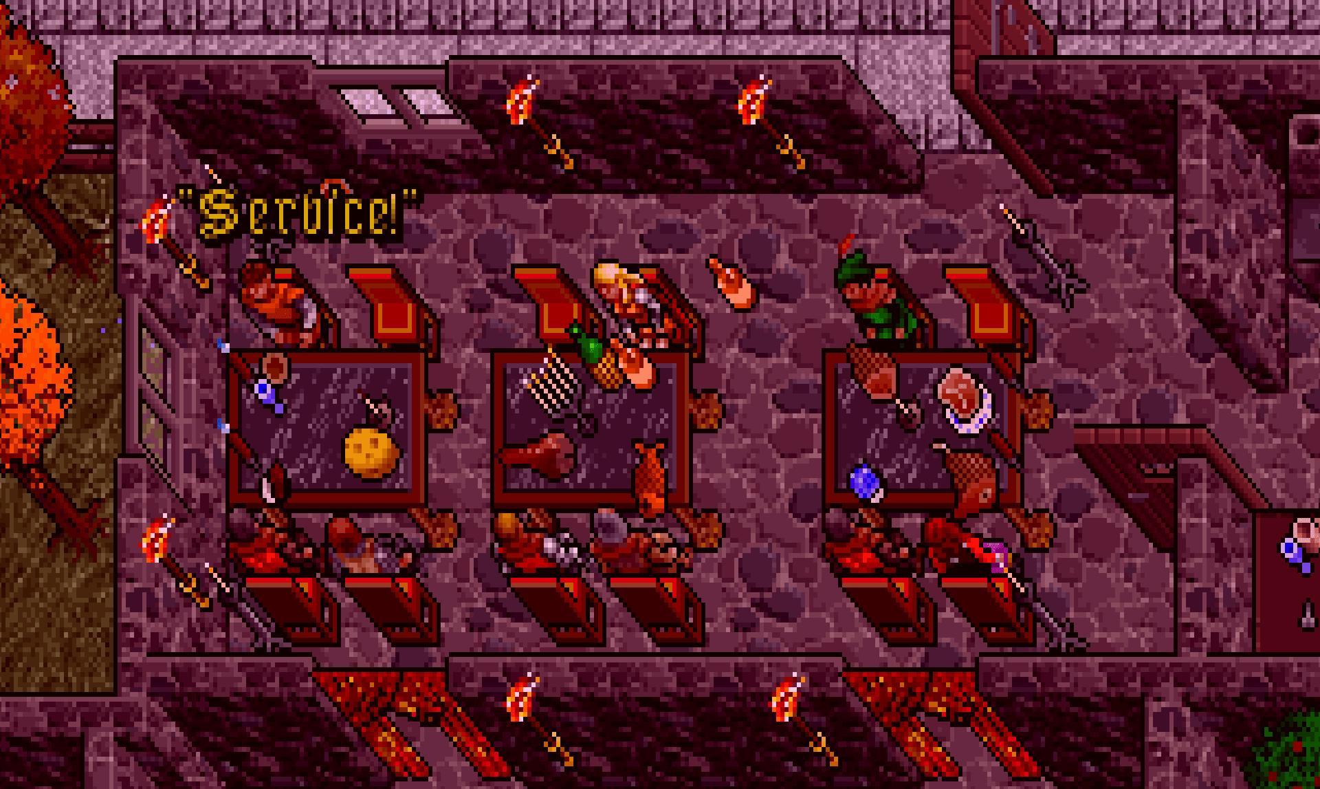 Dinner in Ultima VII.