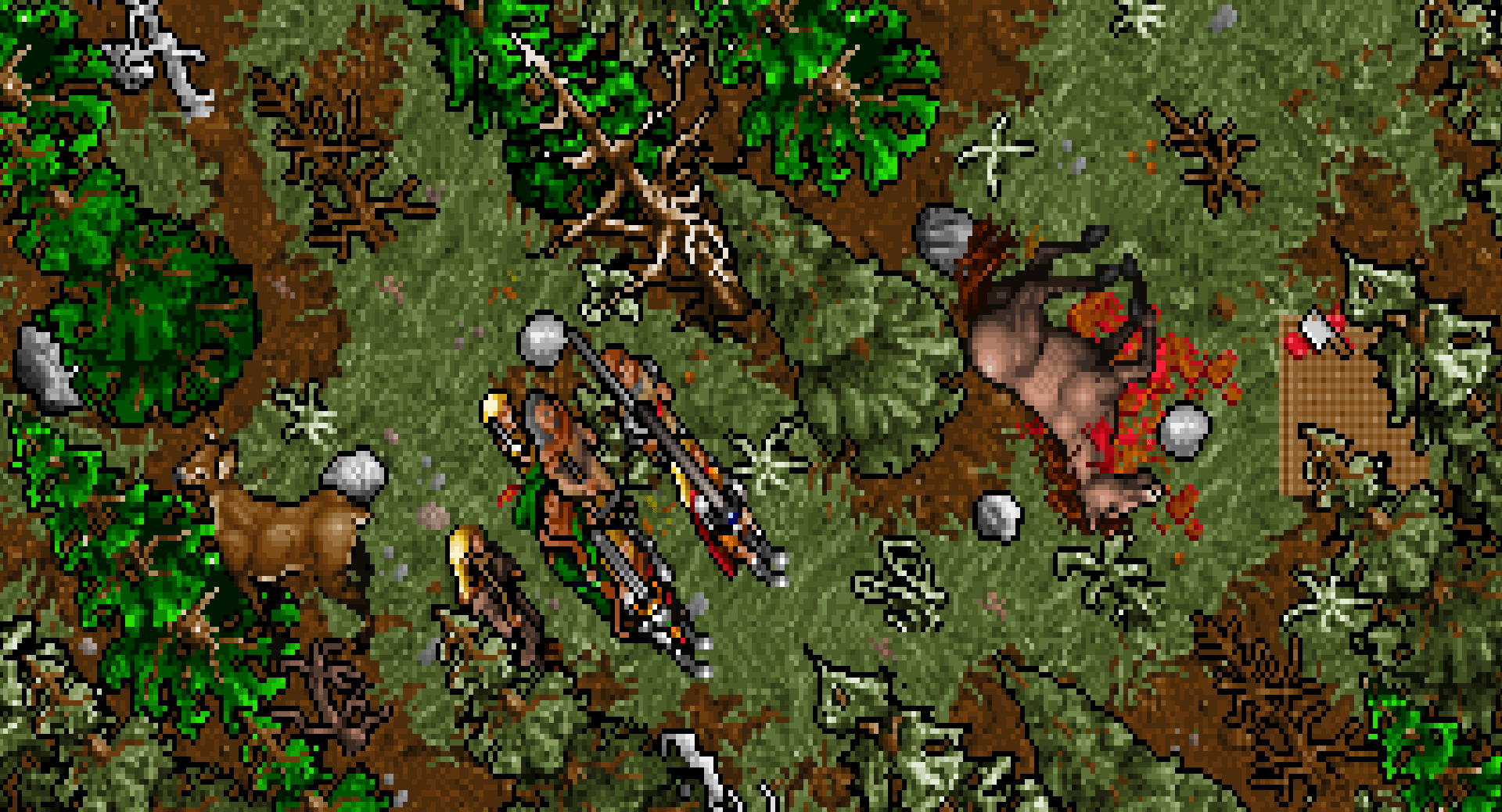 A forest from Ultima VII.