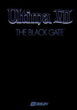 Ultima VII: The Black Gate box art, 1992, PC.