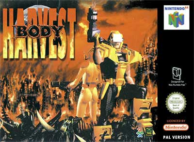 The cover of Body Harvest in the PAL region - not the fucking awful one they had elsewhere.