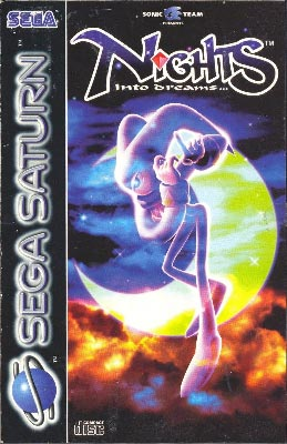 The PAL cover art for NiGHTS into Dreams.