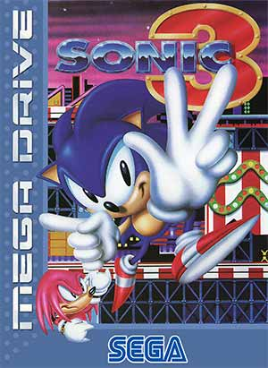 The cover art of Somic the Hedgehog 3, which features Carnival Night Zone.