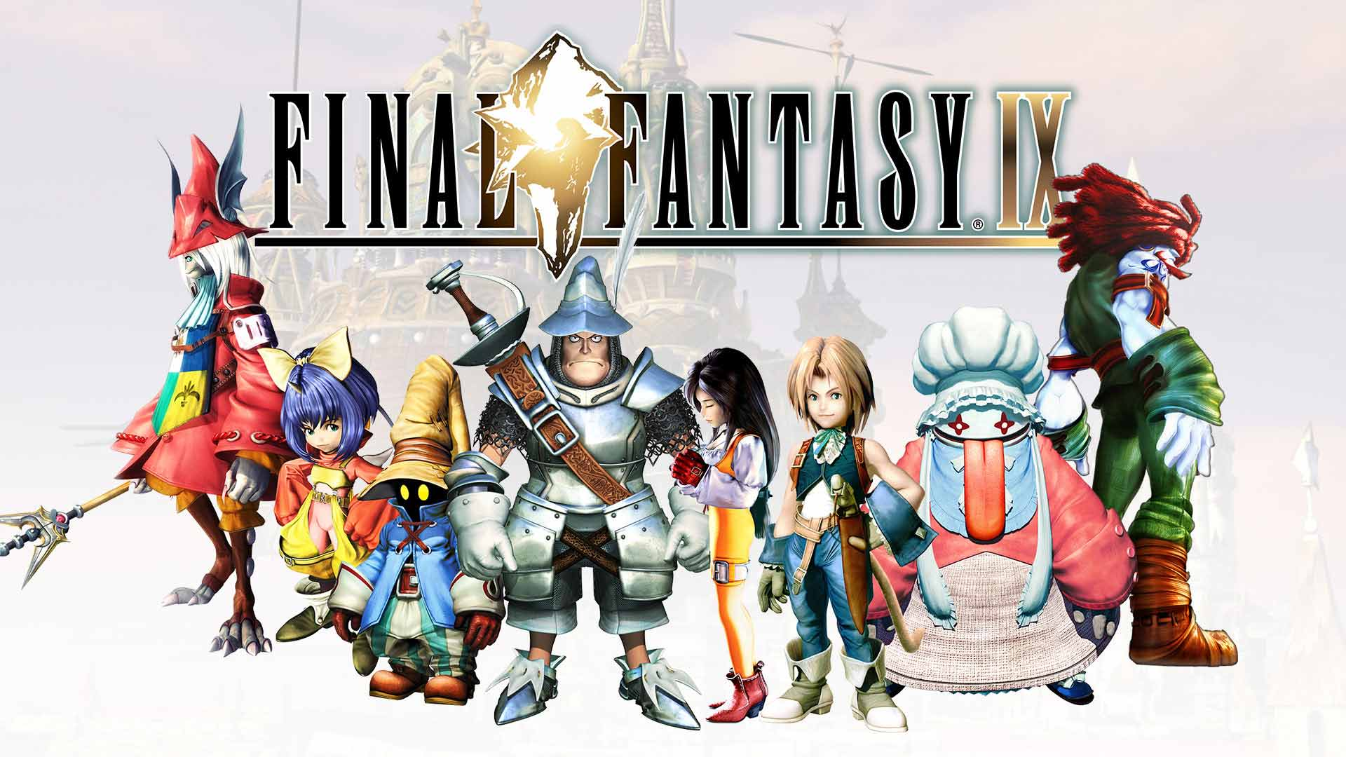 The character line-up from FF9.